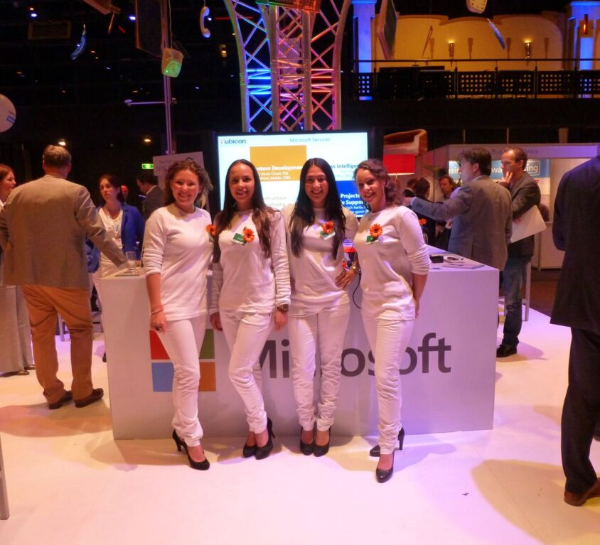 Microsoft Booth at Financial Systems event